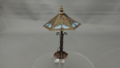 Green Tiffany Pinetree Base Lamp