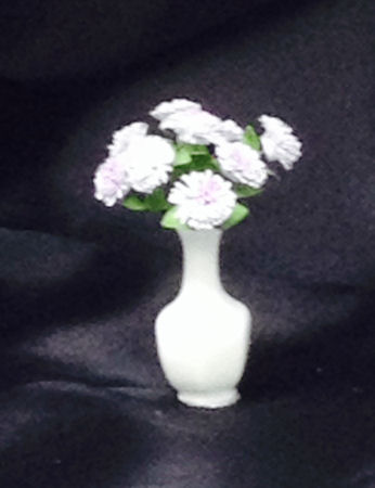 Florals In Tall White Vase Cdr168 30 00 Miniature