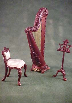 "1/2"" Bespaq Fantasy Lyre Music Set in Mahogany"