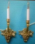 Grape Sconce, Brass, Pair