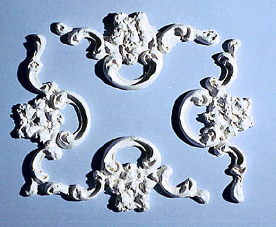 Ceiling Applique Flower with Swirl