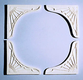 Ceiling Carving, 4pcs