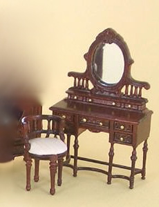 "1/2"" Bespaq Edwardian Vanity and Stool"