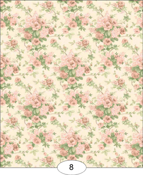 Romantic Rose Peach Floral Wallpaper Wal0008 3 99