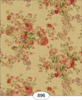 Rose Floral Tea Stained Wallpaper Wal0896 3 99