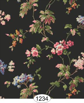 Bella Floral Black Wallpaper Wal1234 3 99